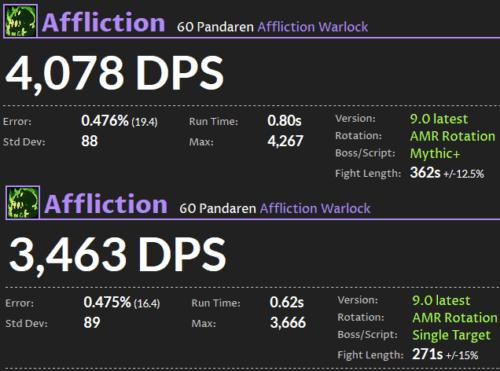Affliction Warlock DPS Shadowlands