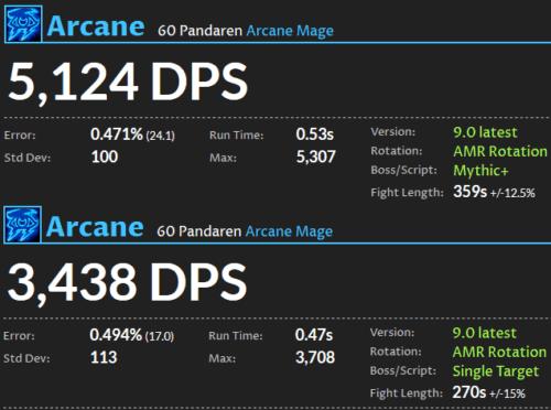 Arcane Mage DPS Shadolands