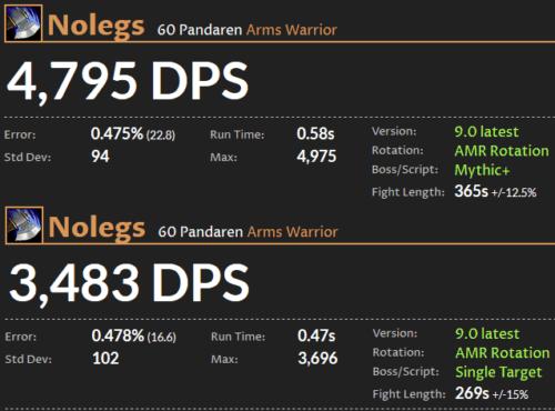 Arms Warrior DPS Shadowlands