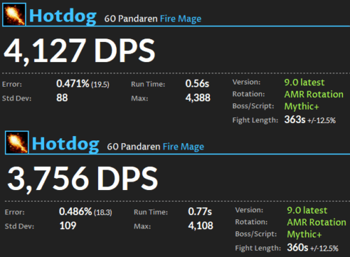 Fire Mage DPS Shadowlands