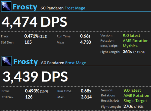Frost Mage DPS Shadowlands