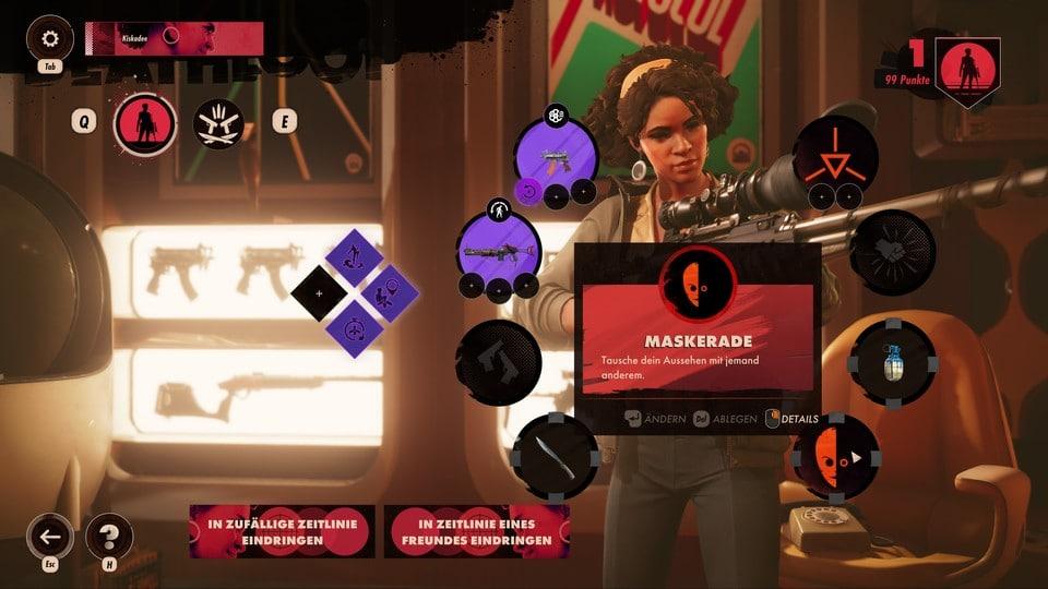 マルチプレイでジュリアナをレベルアップさせ、多くのプレイヤーを倒すと新しい装備や能力がアンロックされる。