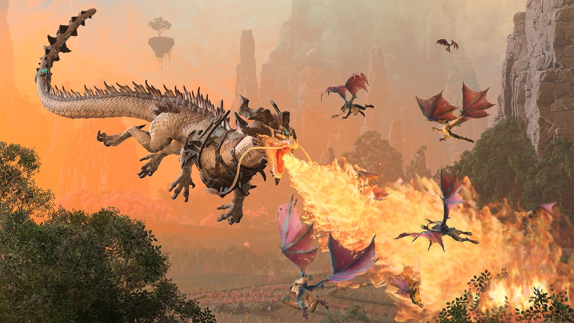 Podczas gdy Miao Ying ciska piorunami nawet w formie smoka, Zhao Ming zieje zwykłym ogniem.