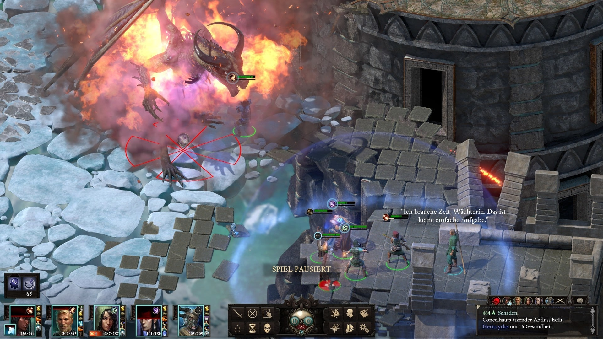 Even in the iso perspective of oldschool role-playing games, the magic effects look impressive.