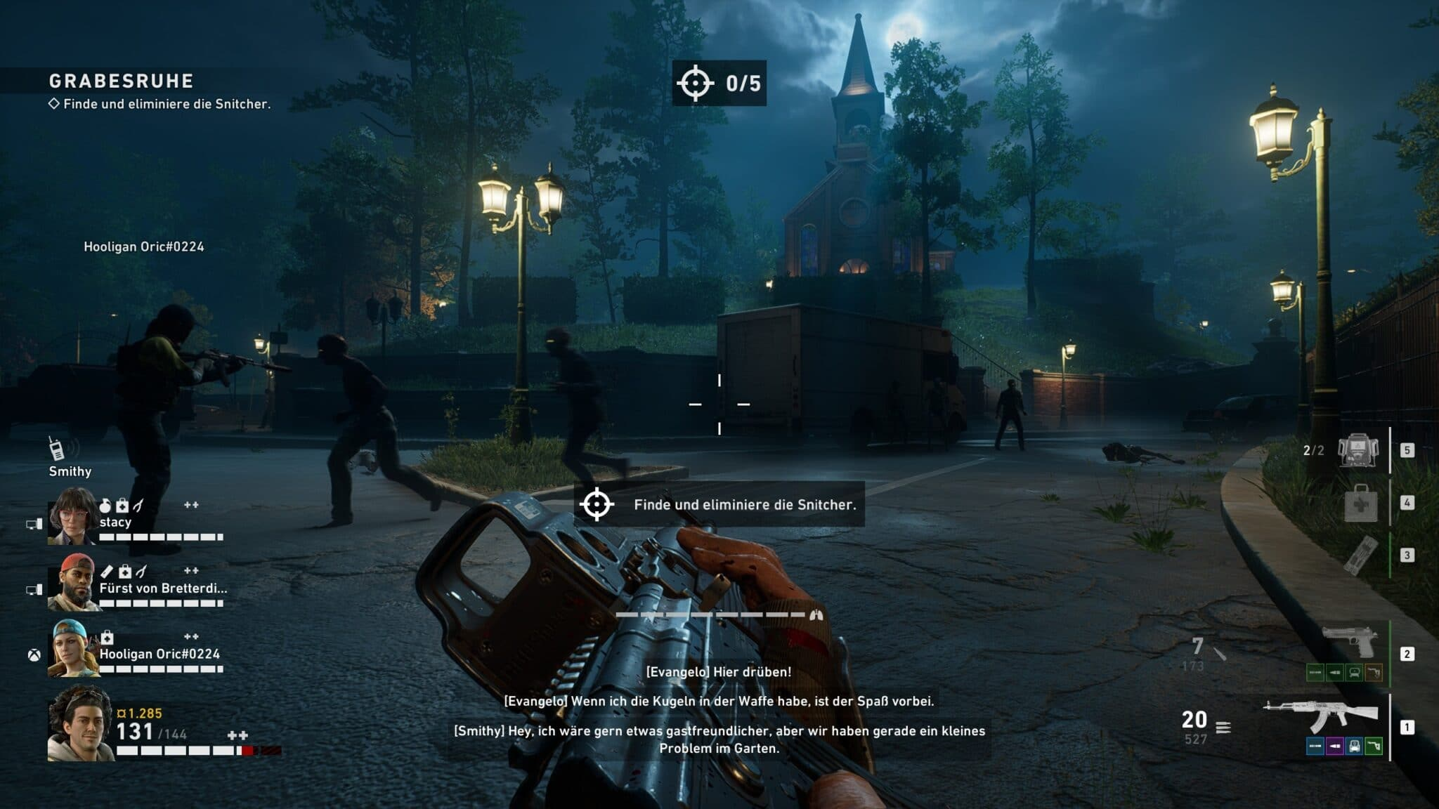 The lighting mood contributes significantly to the atmosphere. Scenes like this are often found in the game and give Back 4 Blood an eerie feel.